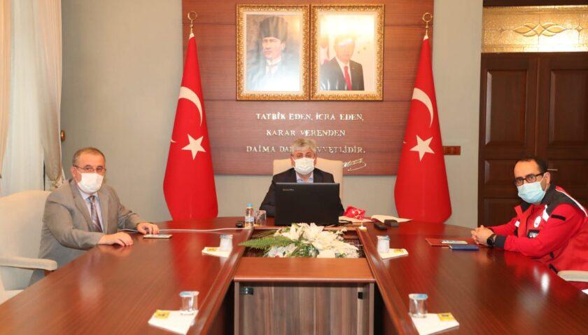 Vali Doğan, Covid-19 Tedbirleri Kapsamında Toplantı Yaptı