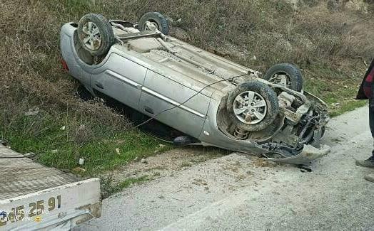 Kuruyer'de korkutan kaza: Köpeğe çarpmamayı başardı ama!