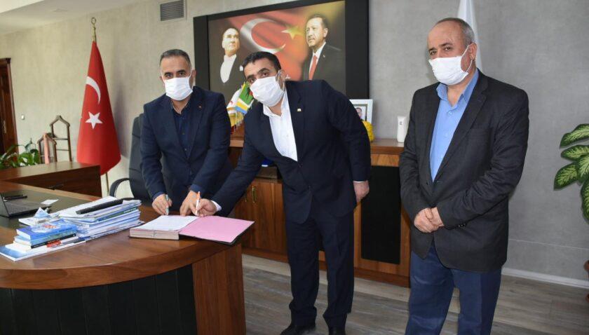 Başkan Sarı sosyal denge sözleşmesine imza attı