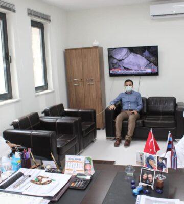 Kaymakam Uygur ve Başkan Sarı'dan Müdür Coşgun'a ziyaret