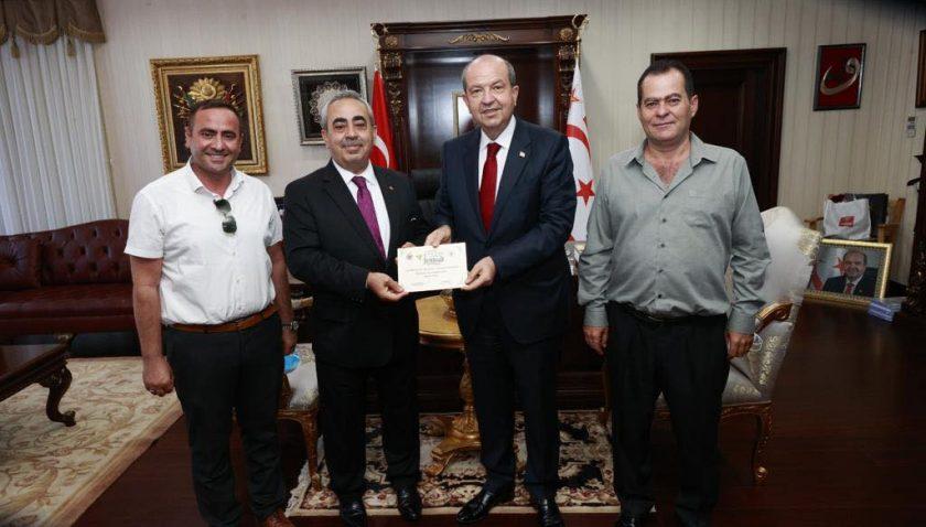 Altınözü'nden, KKTC Cumhurbaşkanı Ersin Tatar'a festival daveti