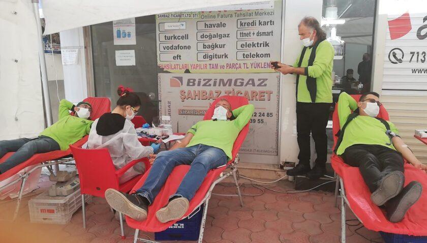 Kan bağışı kampanyasına yoğun ilgi