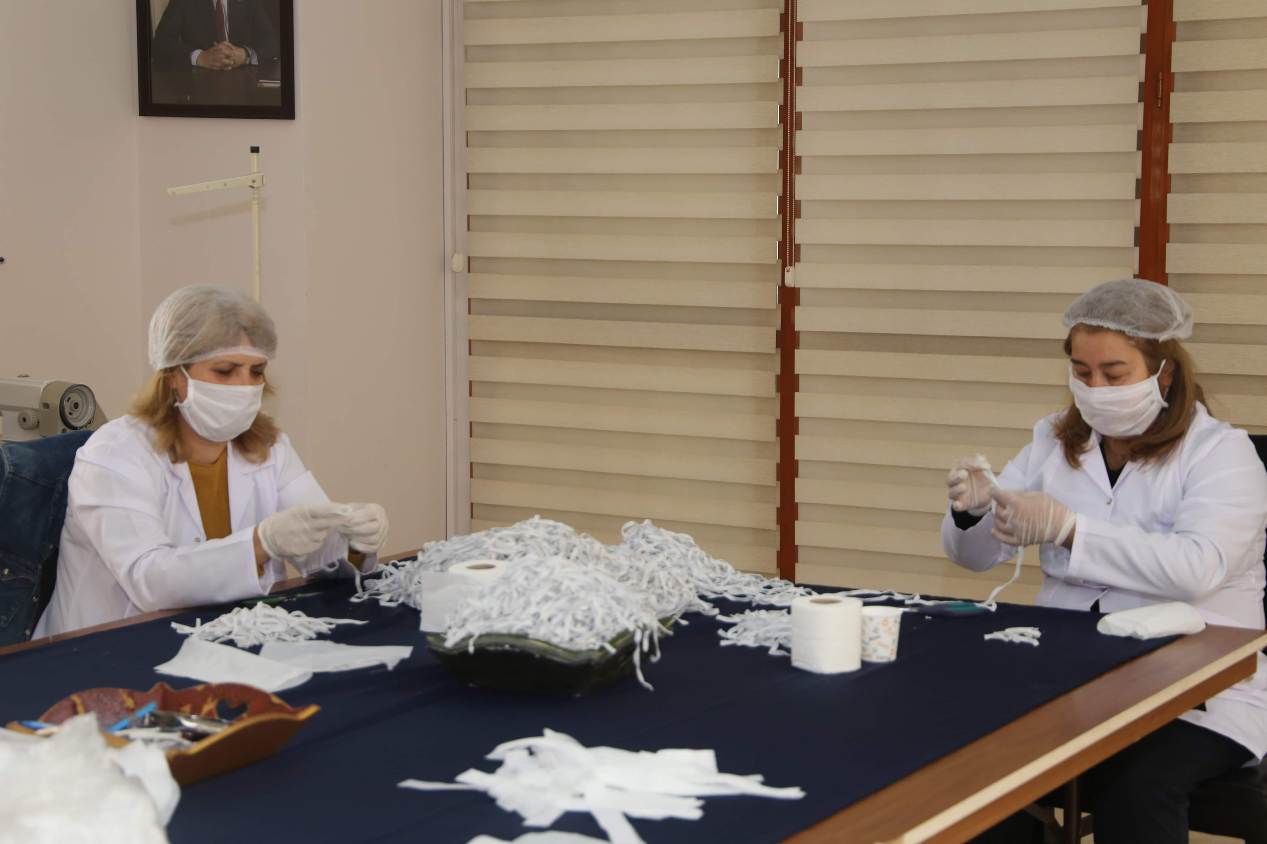 HBB maske üretimine başladı