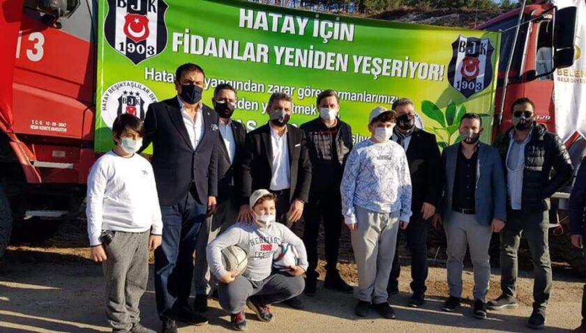 BJK'li yöneticilerden Belen'deki Beşiktaş 1903 Hatıra Ormanı'na ziyaret