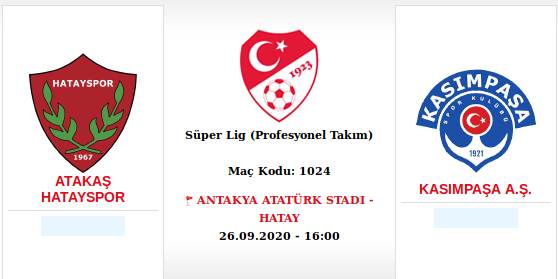 TFF açıkladı: Kasımpaşa maçı Antakya Atatürk Stadı'nda