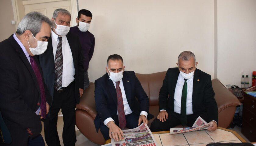 Şanverdi ve Sarı'dan gazetemize ziyaret