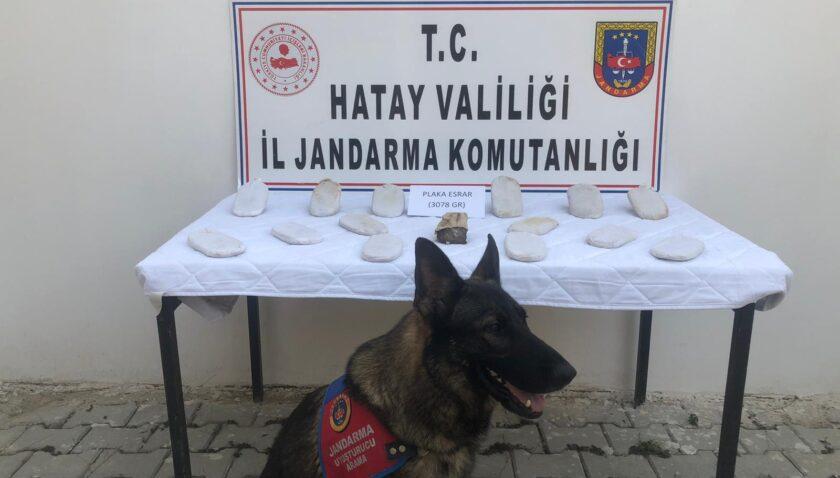 Hacıpaşa'da 3 kilo esrar yakalandı